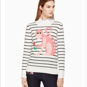 Kate Spade Broome Street Monkey Flower Sweater